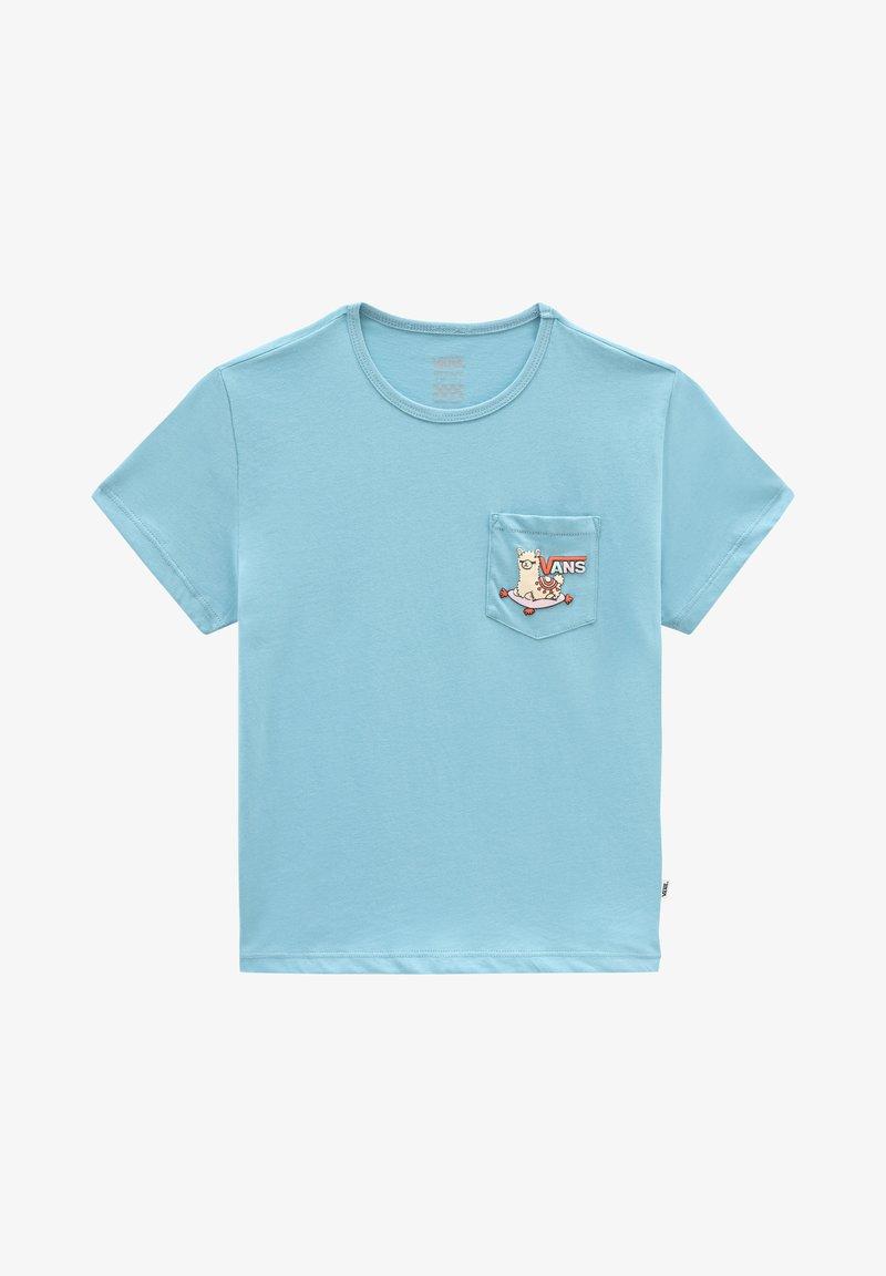 Vans - GR TINY LLAMA - T-shirt print - delphinium blue