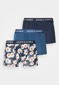 Jack & Jones - JACFLOWER TRUNKS 3 PACK - Panty - ensign blue/navy blazer/navy blazer - 5