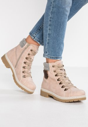 Lace-up ankle boots - rosa
