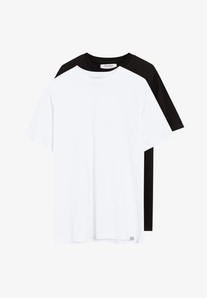 2 PACK - T-shirt - bas - white, black