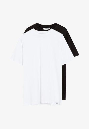 2 PACK - Basic T-shirt - white, black