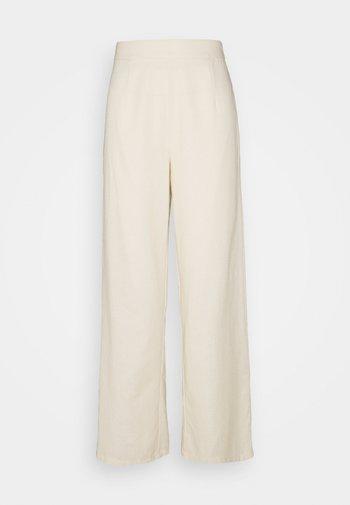 WIDE LEG TROUSER  - Trousers - cream