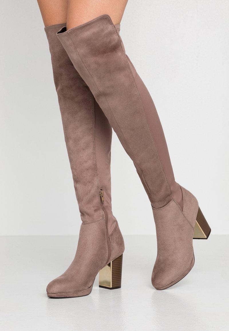 Anna Field - High heeled boots - sand
