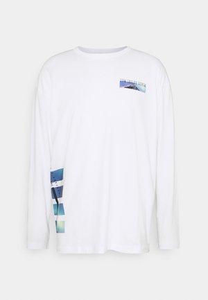 WITH FOTOPRINT - Pitkähihainen paita - white