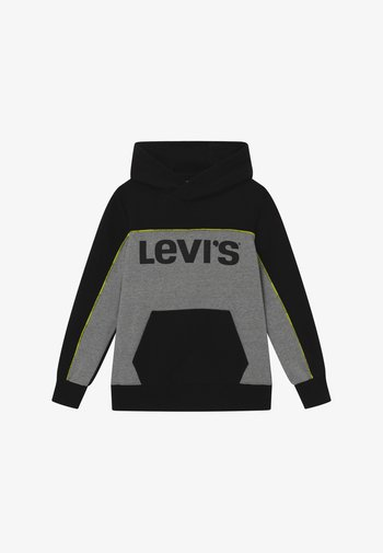PIPED HOODIE - Jersey con capucha - black