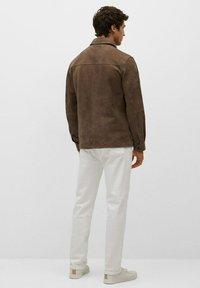 Mango - Leather jacket - hellbraun/pastellbraun - 2