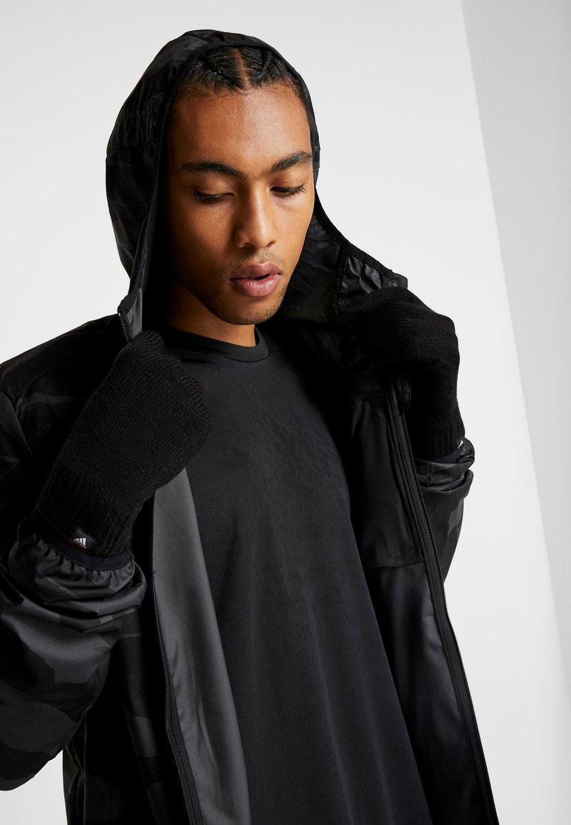 adidas Performance - PERF GLOVES - Fingervantar - black/black/medium grey smoked