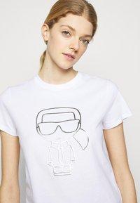 KARL LAGERFELD - IKONIK OUTLINE  - T-Shirt print - white - 3