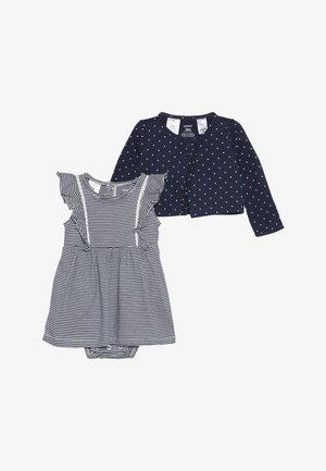 BODYSUIT DRESS BABY SET - Cardigan - blue