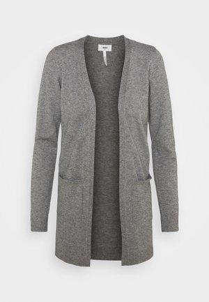 OBJTHESS CARDIGAN - Cardigan - medium grey melange