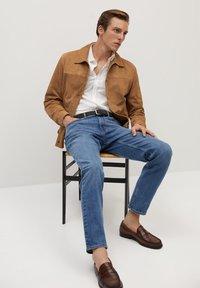 Mango - BONE-I - Leather jacket - beige - 3