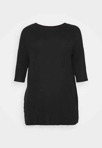 SOFT TOUCH SIDE POCKET - Jednoduché triko - black
