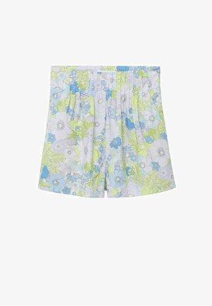 WZORZYSTE SZORTY Z BAWEŁNY - Shorts - błękitny