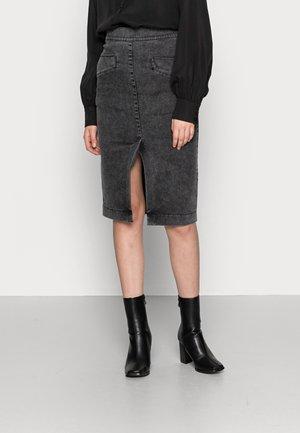 ASTRID COMFY  - Denim skirt - black