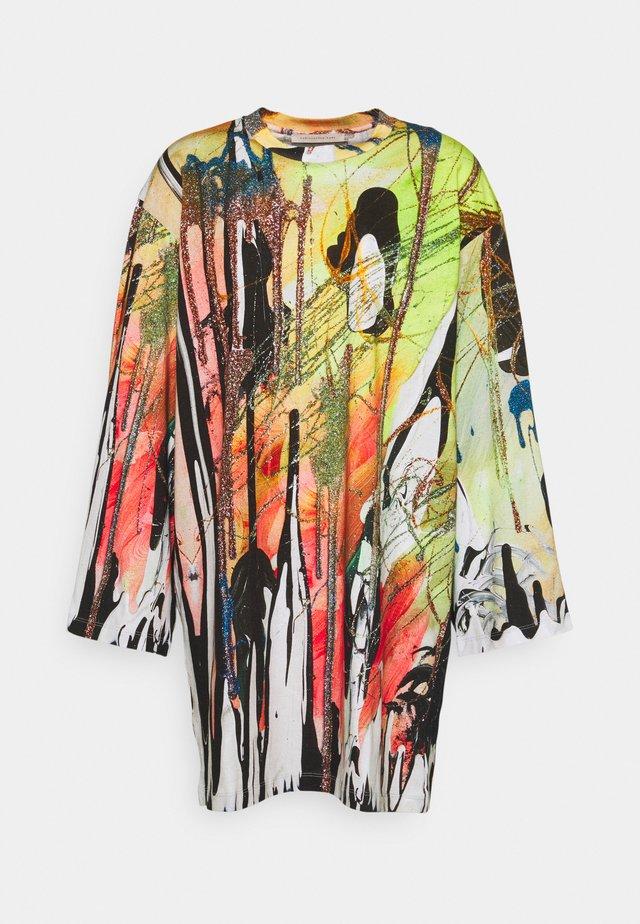 MINDSCAPE JUMBO LONG SLEEVE - Jersey dress - mindscape neon