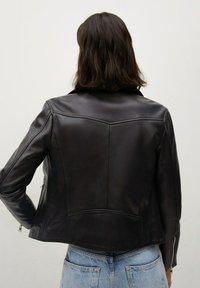 Mango - Leather jacket - schwarz - 2