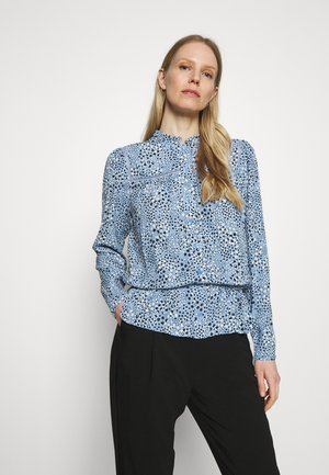 STAR FRILL PEPLUM - Blouse - blue