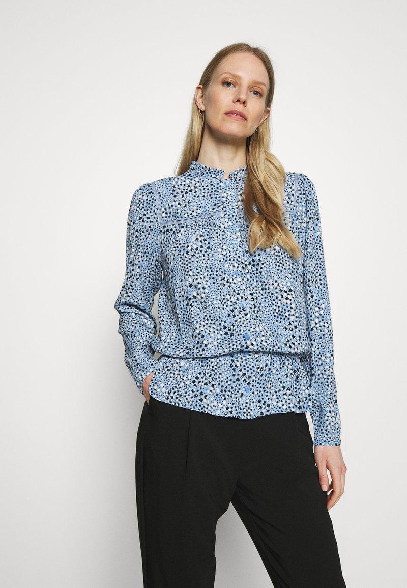 Marks & Spencer London - STAR FRILL PEPLUM - Blouse - blue