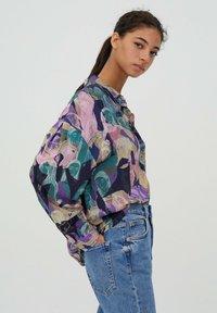 PULL&BEAR - Button-down blouse - purple - 4