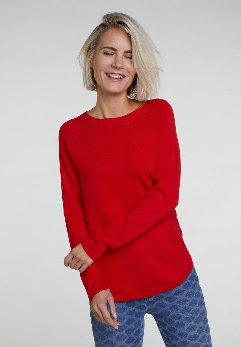 Oui - Jumper - flame scarlet