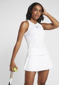 Nike Performance - DRY TANK - Treningsskjorter - white/black - 0