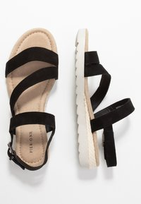 Pier One Wide Fit - Wedge sandals - black - 3