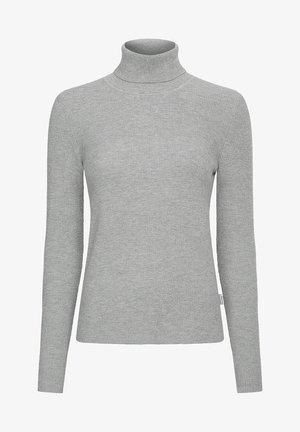 SLIM ROLL NECK  - Jumper - light grey heather