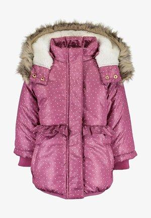 LOVELY BLOSSOM - Winter coat - mauve aop