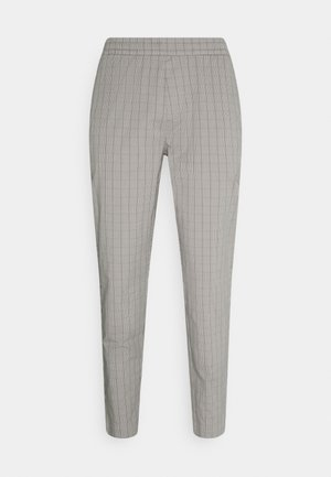 Trousers - grey plaid