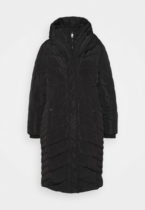 PILLOW COLLAR DOUBLE LAYER COAT - Parka - black