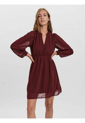 Day dress - red, dark red