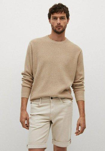 Jeansshort - open beige