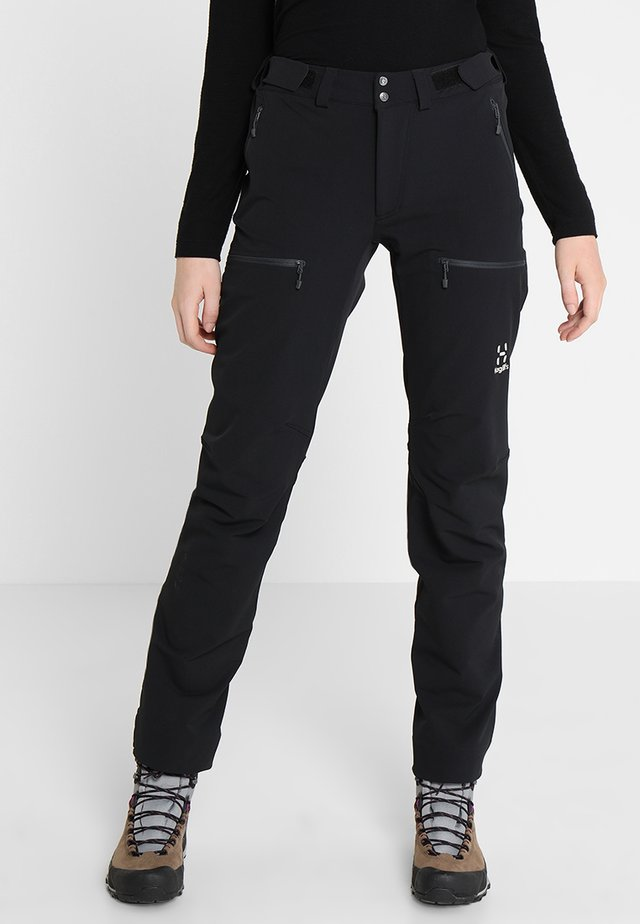 BRECCIA PANT WOMEN - Ulkohousut - true black/magnetite