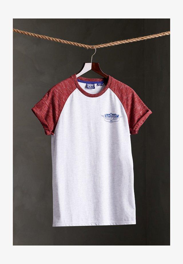 SPEEDWAY RAGLAN - T-shirt imprimé - ice marl