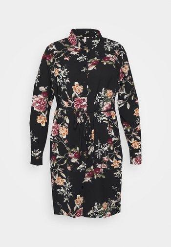 CARLUXSILVIA KNEE DRESS - Shirt dress - black