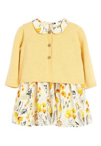 Next - OCHRE PROM DRESS AND CARDIGAN SET (0MTHS-2YRS) - Gilet - yellow - 0