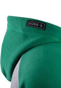 Spitzbub - SPITZBUB HOODED ZIP OLIVER - Zip-up hoodie - grau/grün - 5