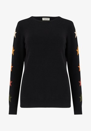 STACEY FALL STAR SLEEVE - Jumper - black