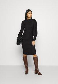 Gestuz - RIFAGZ PUFF DRESS - Day dress - black - 1