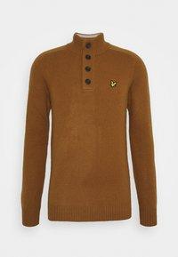FUNNEL NECK JUMPER - Svetr - tawny brown