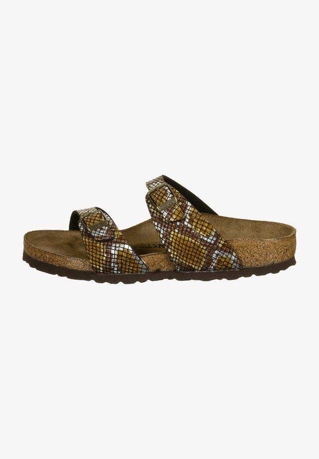 SYDNEY  - Pantoffels - python brown