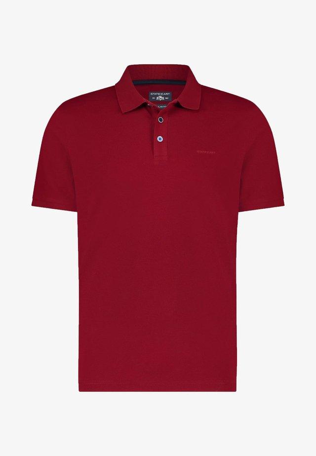 Poloshirt - wine red plain
