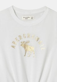 Abercrombie & Fitch - TIE FRONT  - Triko spotiskem - white - 2