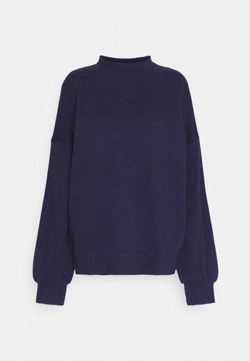Crew neck puff sleeve sweater - Sweatshirt - dark blue