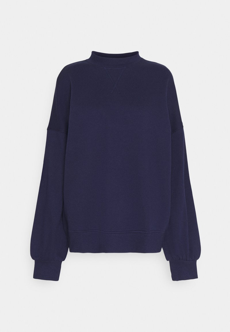 Anna Field - High Neck Puff Sleeve Sweatshirt - Sweatshirt - dark blue