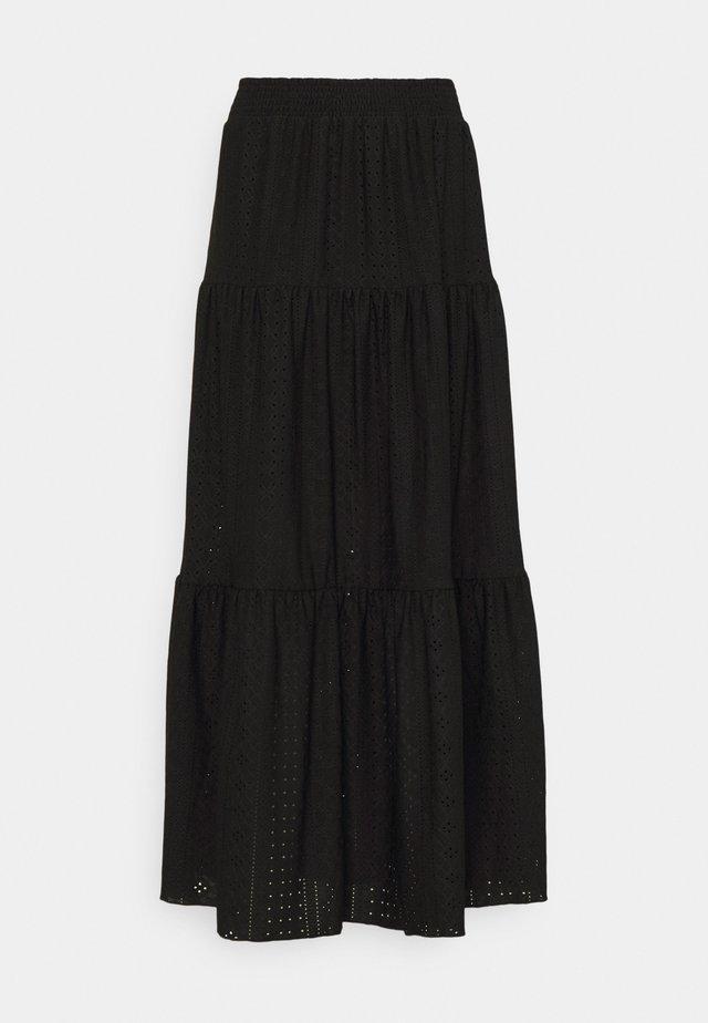 OBJRITTA LONG SKIRT - Maxi skirt - black