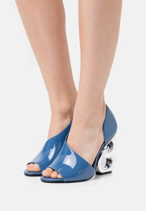 Peeptoe heels - slate