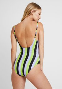Solid & Striped - THE NINA STRIPE - Swimsuit - lavender/lime/black - 3