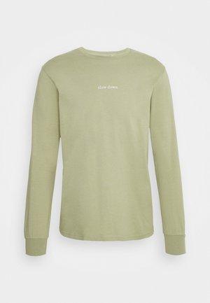 DOWN LONGSLEEVE - Long sleeved top - sage