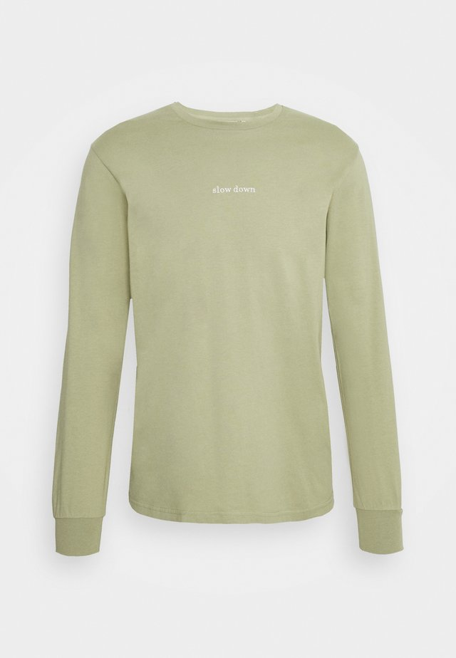 DOWN LONGSLEEVE - Long sleeved top - sage
